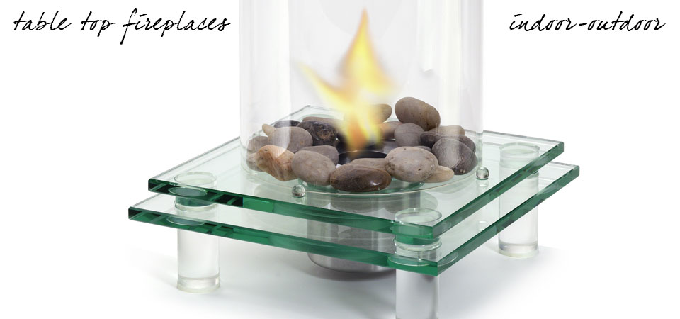 ultra modern tabletop fireplaces