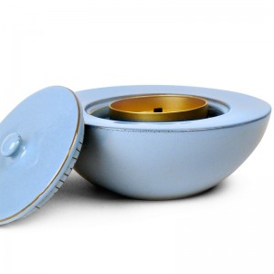 Windflame Bowl Candle FirePot, Robin Egg Blue