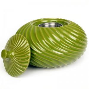 Swirl Patio Torch / Green w Fuel