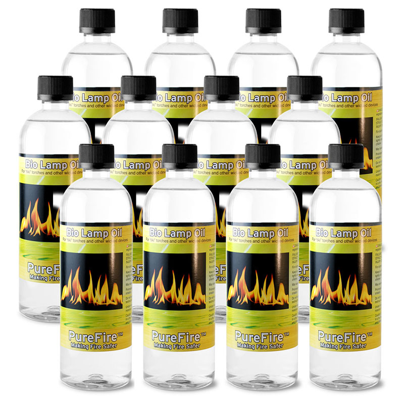 PureFire™ Bio Lamp Oil, 12-Pack 750 ML