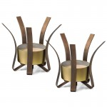 Orion Candle Holders (2) – Bronze