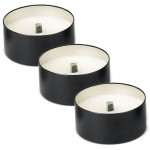 Windflame™Gift Box, 3 CITRO Outdoor Candles / Black Tin