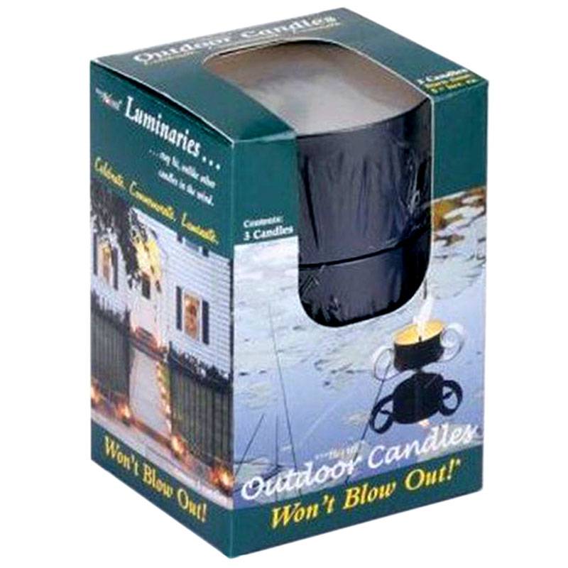 Windflame Gift Box 3 Citro Outdoor Candles Black Tin