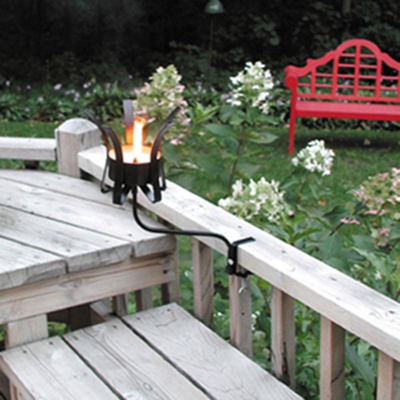 Orion W Deck Railing Set Black Ecoflamefires