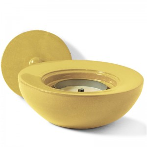 Windflame Bowl Candle FirePot, Goldenrod