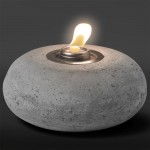 Round Concrete Patio Torch, 8.0″ Diameter w Fuel