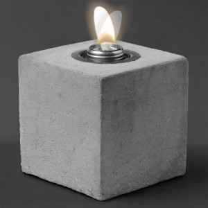 5.5″ Concrete Cube Patio Torch / Medium w Fuel