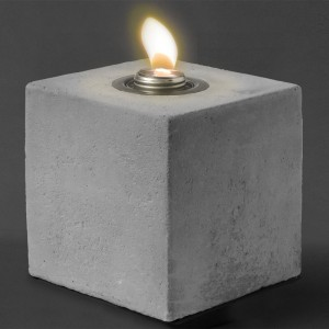 6.75″ Concrete Cube Patio Torch / Large w Fuel