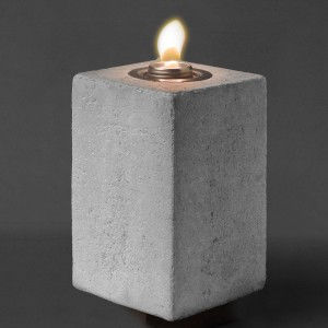 8.75″ Tall Square Concrete Patio Torch w Fuel
