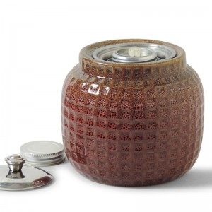 Honeycomb Patio Torch / Red-Orange w Fuel