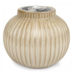 Vertical Stripe Patio Torch / Soft White w Fuel