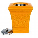 Pedestal Patio Torch / Orange w Fuel