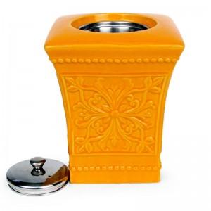 Pedestal Patio Torch / Orange w Fuel