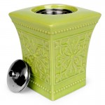 Pedestal Patio Torch / Green w Fuel