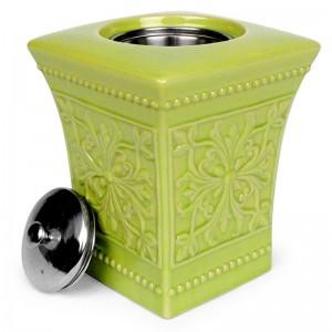 Pedestal Patio Torch / Green w Fuel