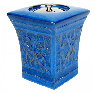 Pedestal Patio Torch / Blue w Fuel